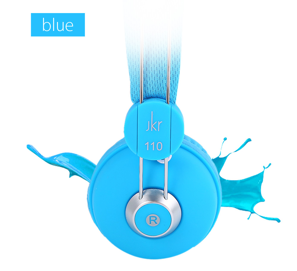 JKR 110 3.5MM Plug Wired Stereo HiFi Music Headphones Headset