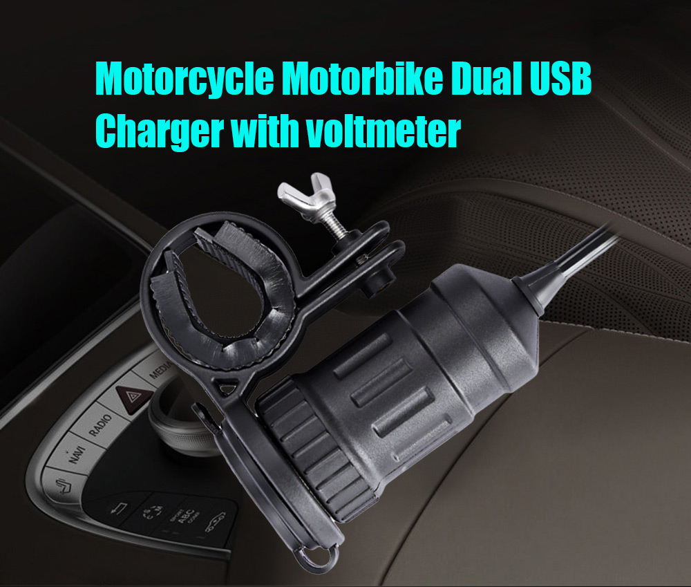 C71 - Z 5V 4.2A Motorcycle Car Dual USB Charger with Voltmeter