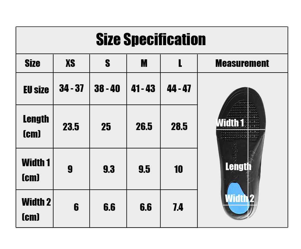 Paired Unisex Comfort Deodorant Anti-fatigue Orthopedic Insole Cut-to-fit Size
