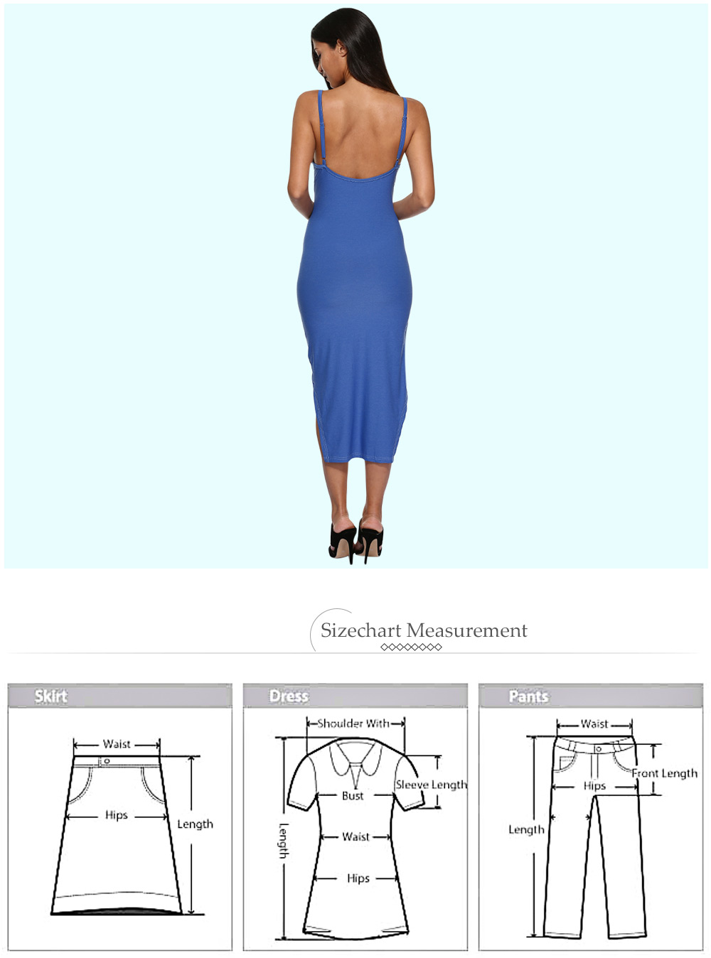 Sexy Spaghetti Strap Pure Color Asymmetrical Women Dress