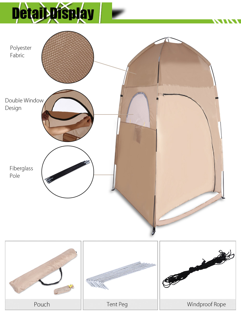 Camping Hiking Backpacking Shower Toilet Changing Shelter Privacy Room