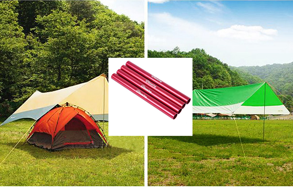 SHINETRIP 4pcs / Lot Outdoor Camping Tent Pole Rod Emergency Connecting Pipe Repairing Tube