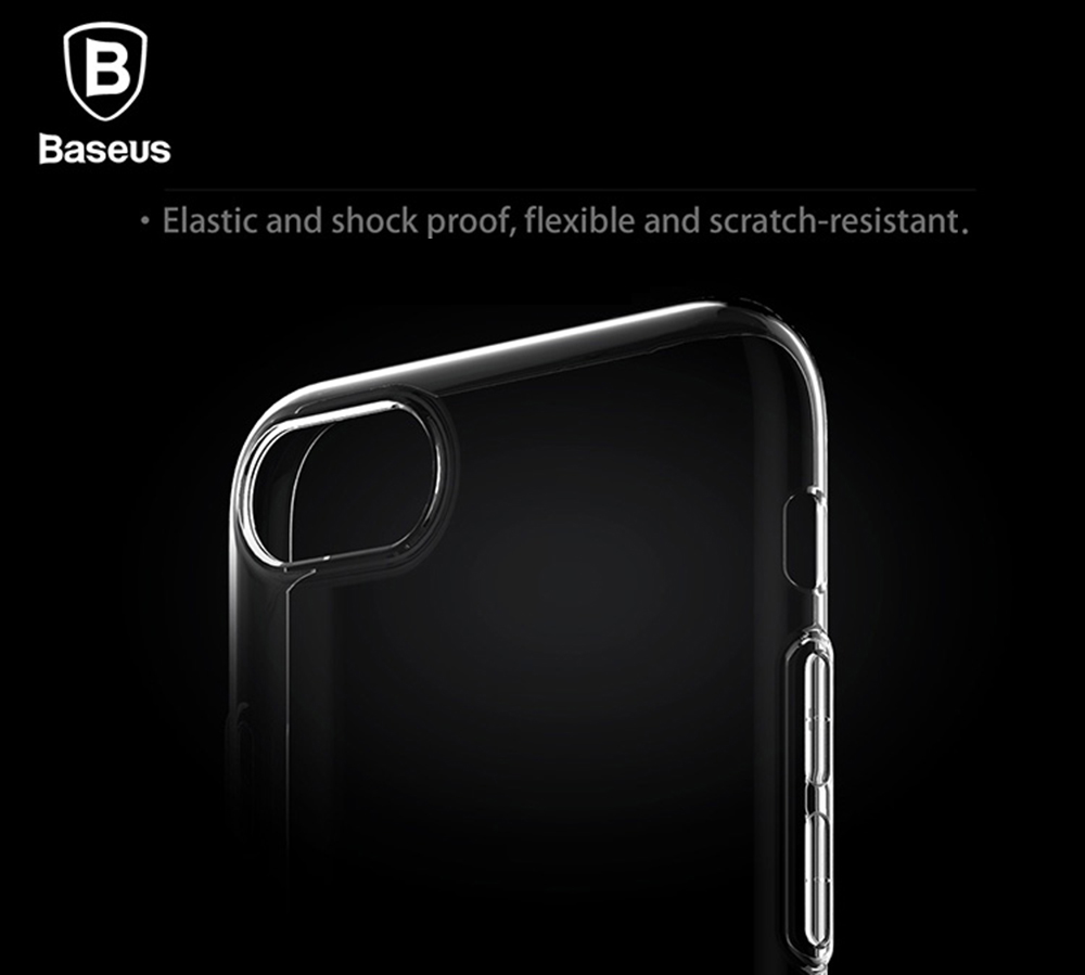 Baseus 5.5 inch Ultra Thin Transparent Soft Protective Dustproof Mobile Phone Back Case Cover for iPhone 7 Plus