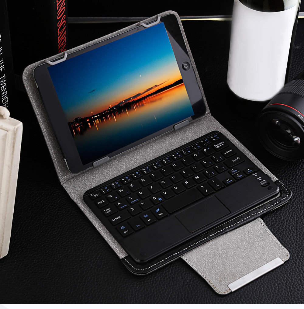 3 in 1 Universal Bluetooth Keyboard Touch Control Tablet Protective Case with Stander for iOS / Android / Windows 7 / 8 inch