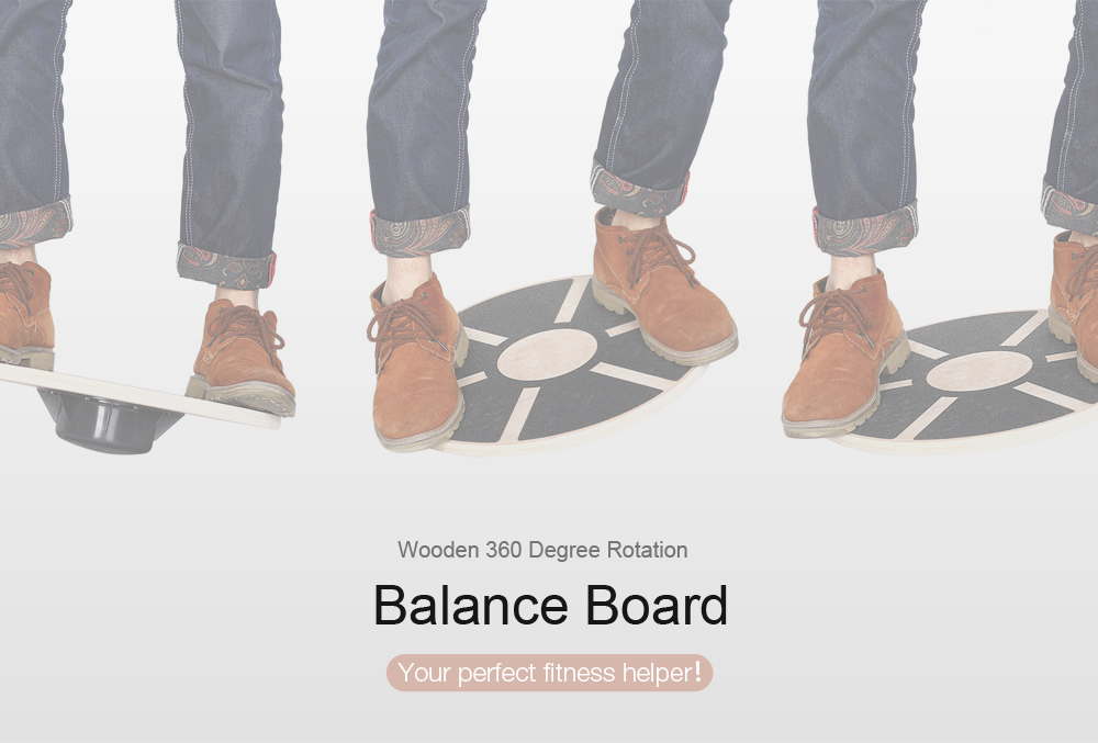 Wooden Balance Board for Foot Leg Yoga Body Training Exercise Physical Fitness Gear