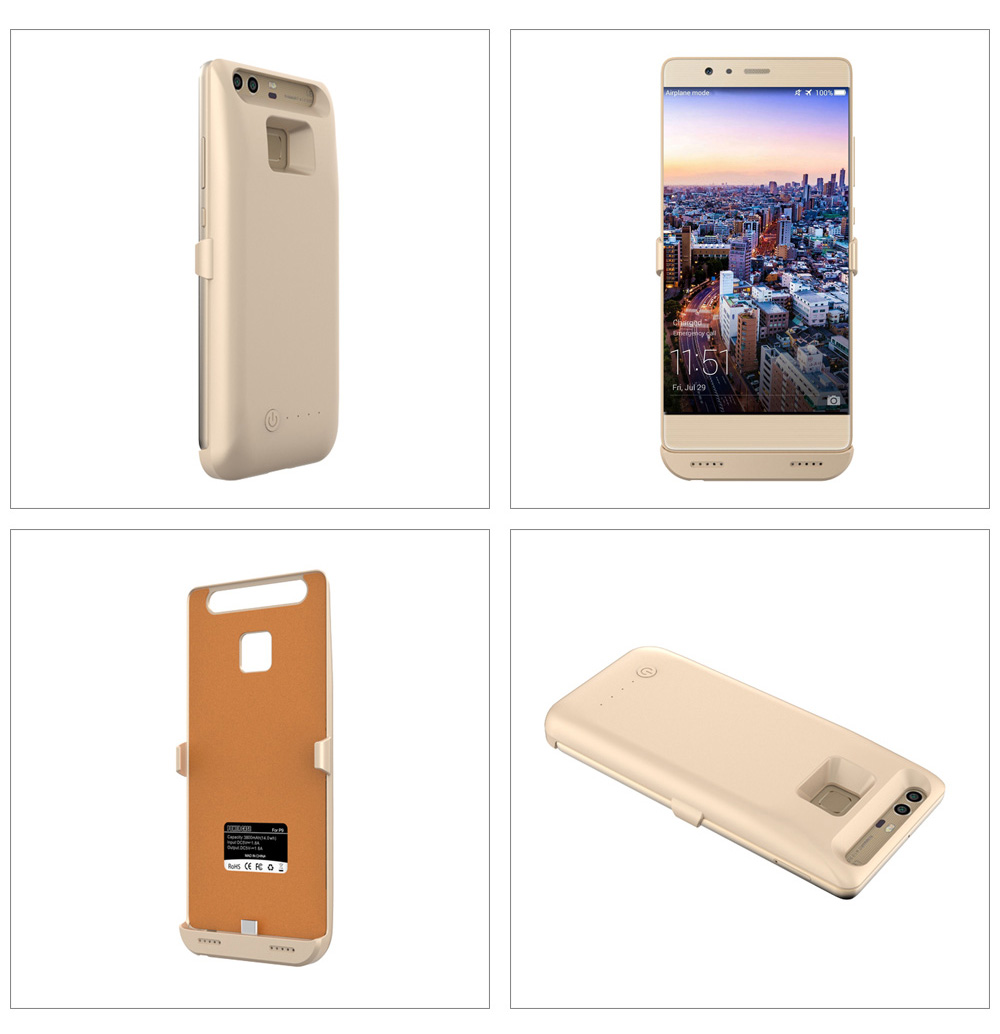 3800mAh Backup Battery External Power Bank Charger Cover for Huawei P9