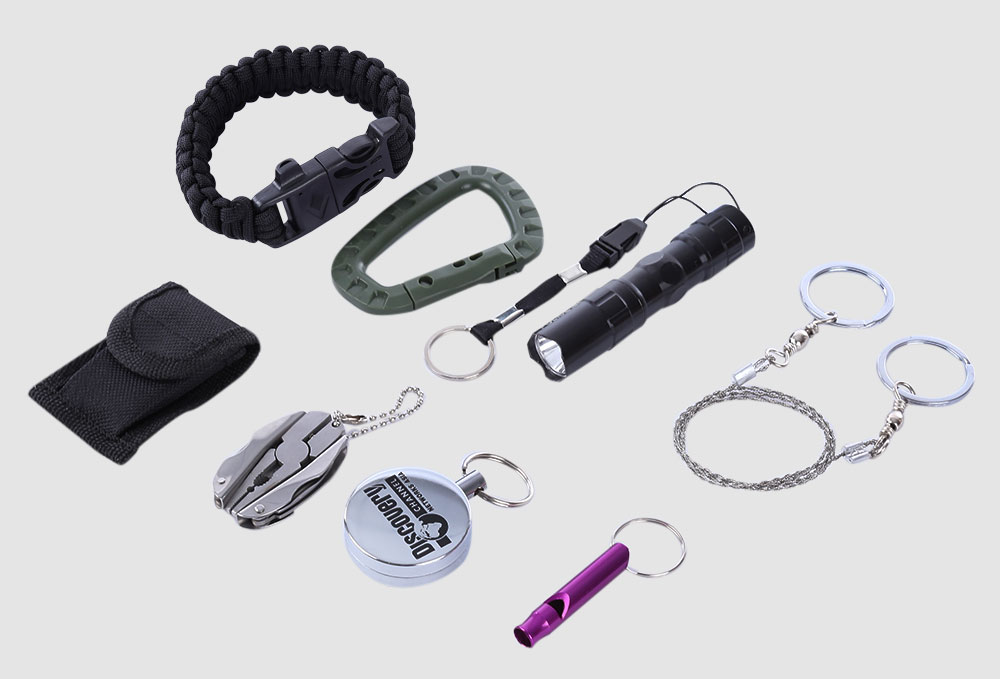 7 in 1 Outdoor Survival Tools Set Kit for Camping Hiking Travel