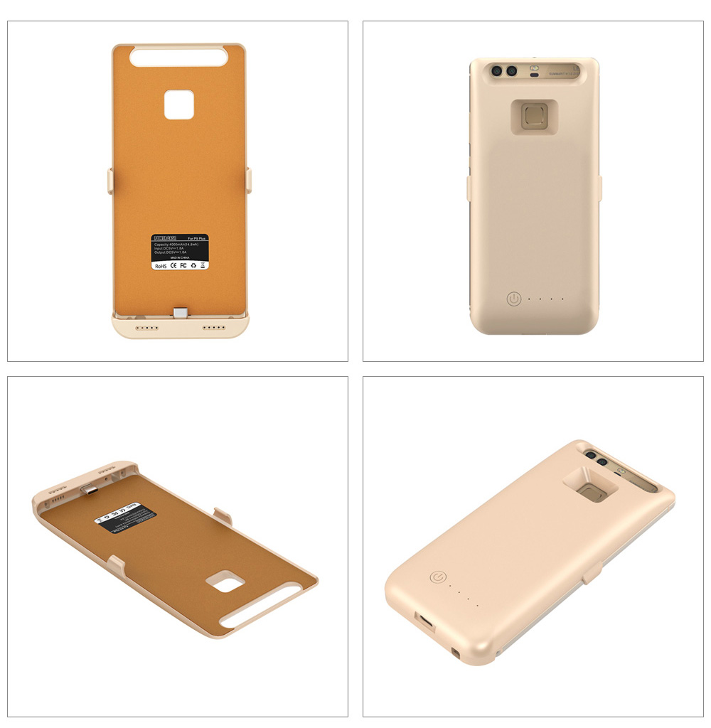4000mAh Backup Battery External Power Bank Charger Cover for Huawei P9 Plus
