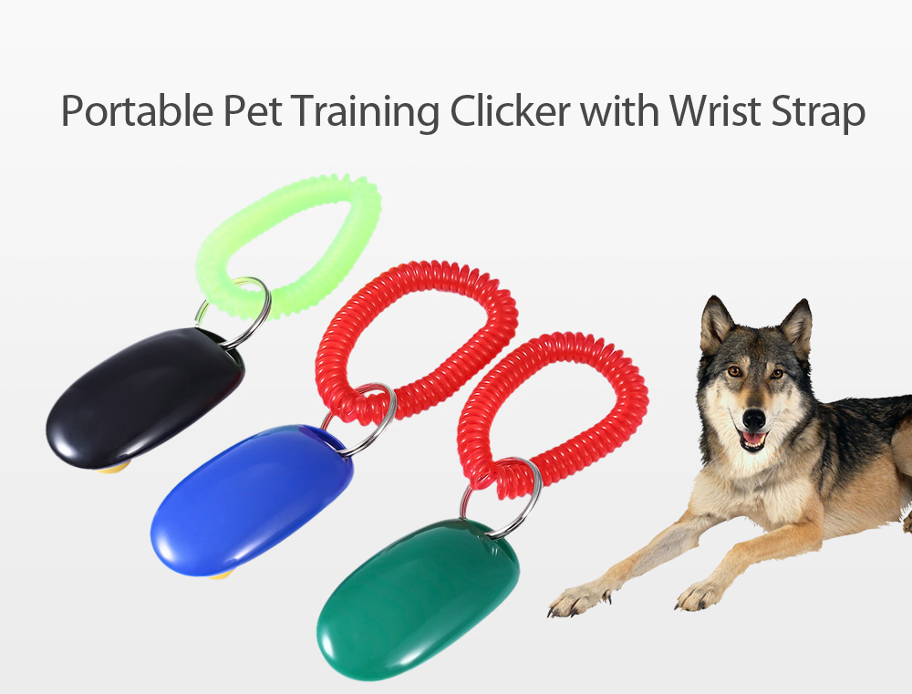 3pcs Portable Pet Training Clicker with Wrist Strap for  Dog Cat
