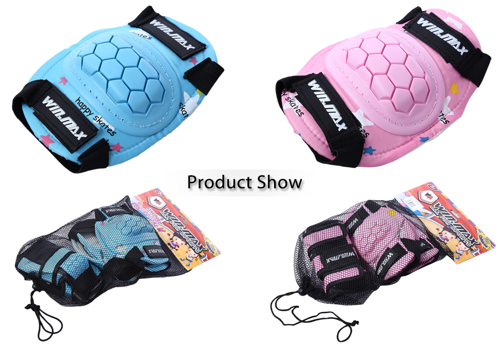 WINMAX 6pcs / Set Children Roller Skateboard BMX Scooter Cycling Protective Gear Pad