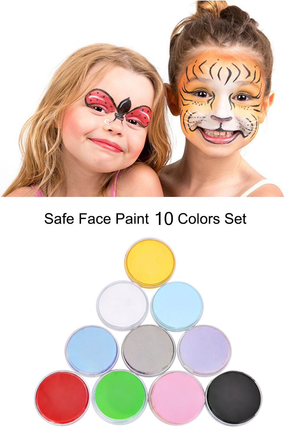 10 Colors Halloween Body Face Paint Drawing Pigment Water-based Painting Cream