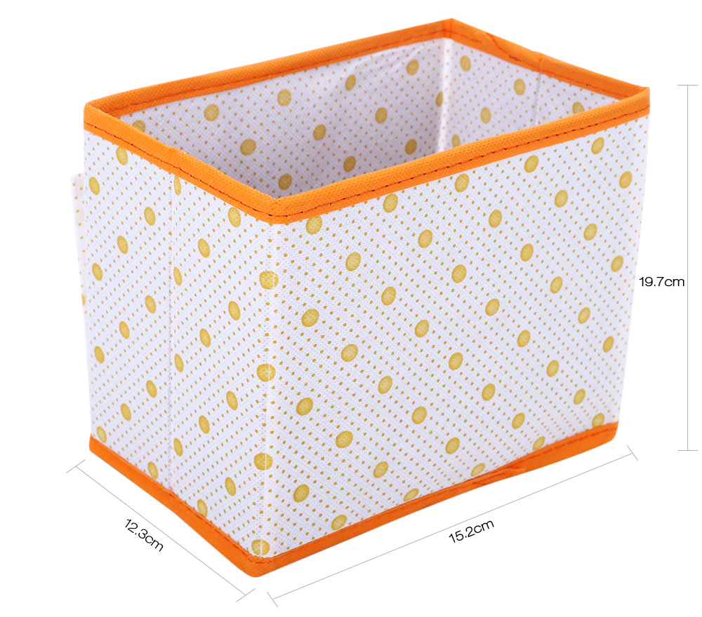 Wave Point Non-woven Fabric Foldable Storage Box Multifunctional Rectangle Container