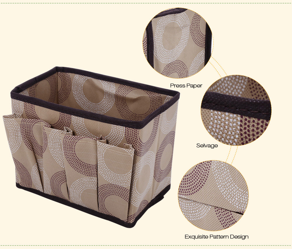 Non-woven Fabric Foldable Storage Box Multifunctional Rectangle Container