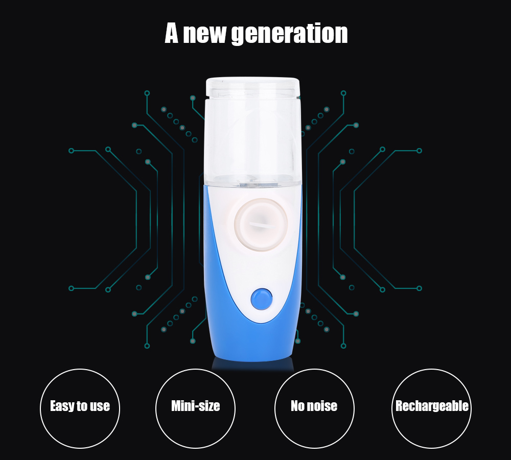 Rechargeable Atomizer Inhaler Nebulizer Humidifier Beauty Instrument Aromatherapy Rhinitis Skin Replenishment