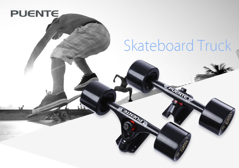 PUENTE 2pcs Generic 7 inch Skateboard Truck Accessory with Wheel