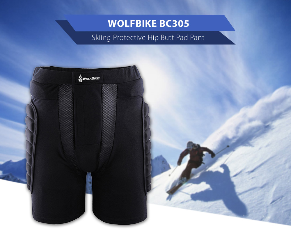 WOLFBIKE BC305 Protective Hip Butt Pad Pant for Outdoor Sport Skiing Skating Snowboarding