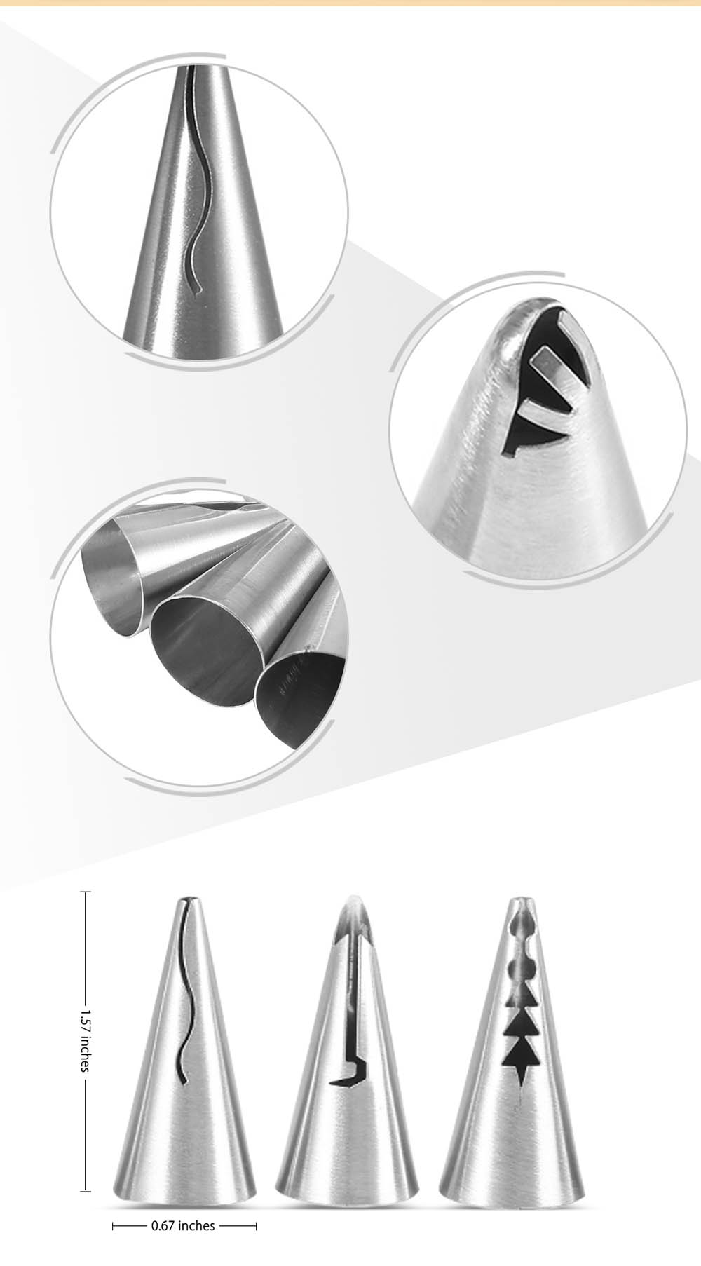 8pcs Stainless Steel Buttercream Icing Piping Nozzles DIY Baking Tools