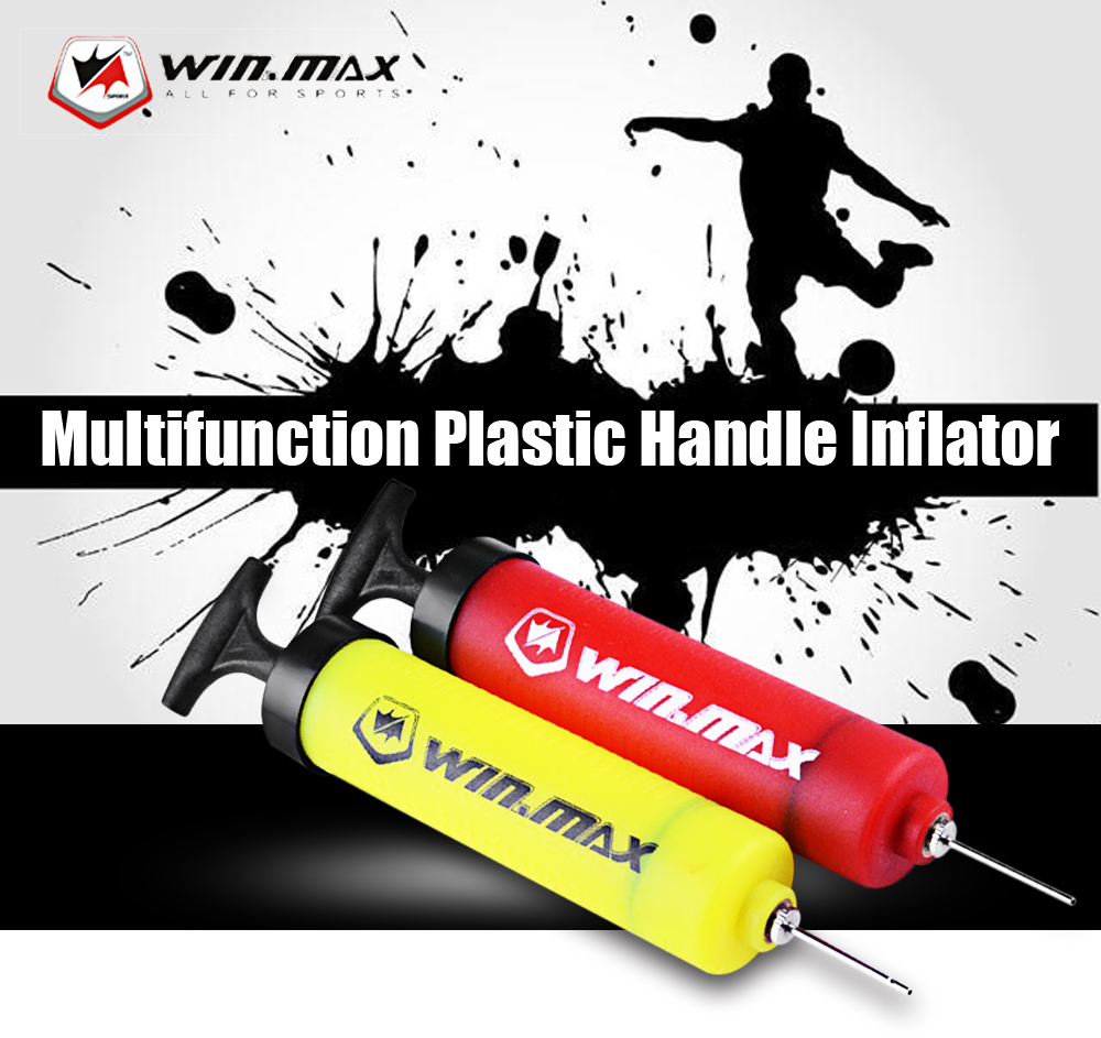 WIN MAX Plastic Hand Air Needle Ball Pump Party Balloon Soccer Inflator for Football Basketball