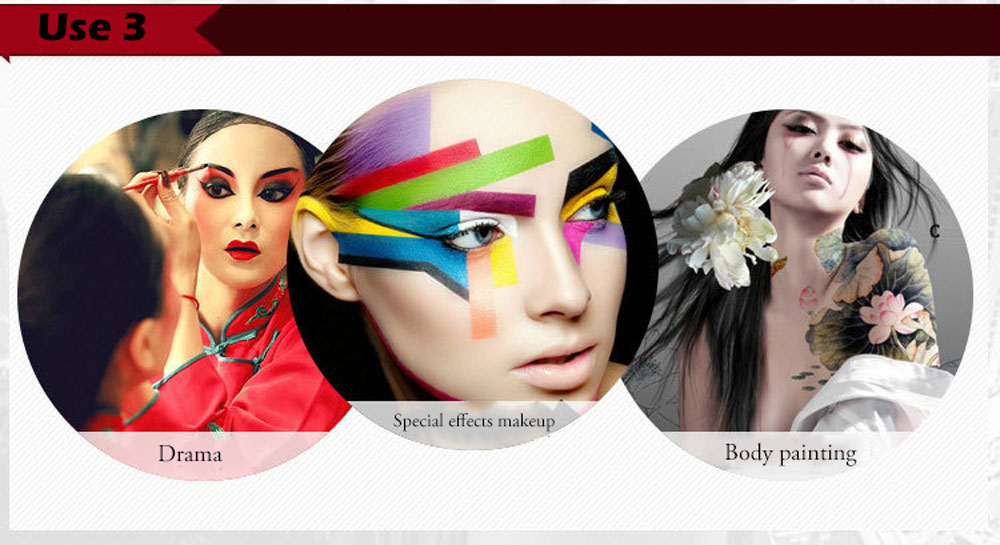 12 Color Tattoo Face Body Paint Oil Painting Art Halloween Party Fancy Dress Makeup Tool