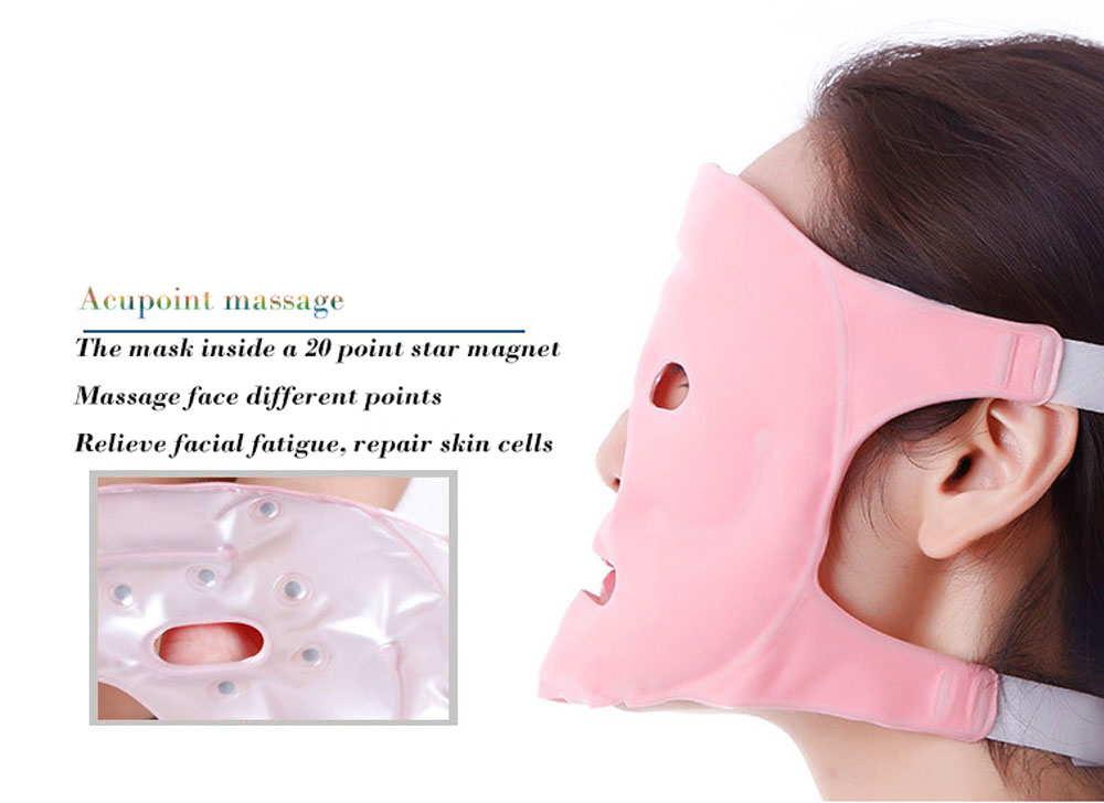 Magnet Tourmaline Gel Facial Beauty Mask Face Slim Lift Tool Reusable Magnetic Therapy Revitalization Massager