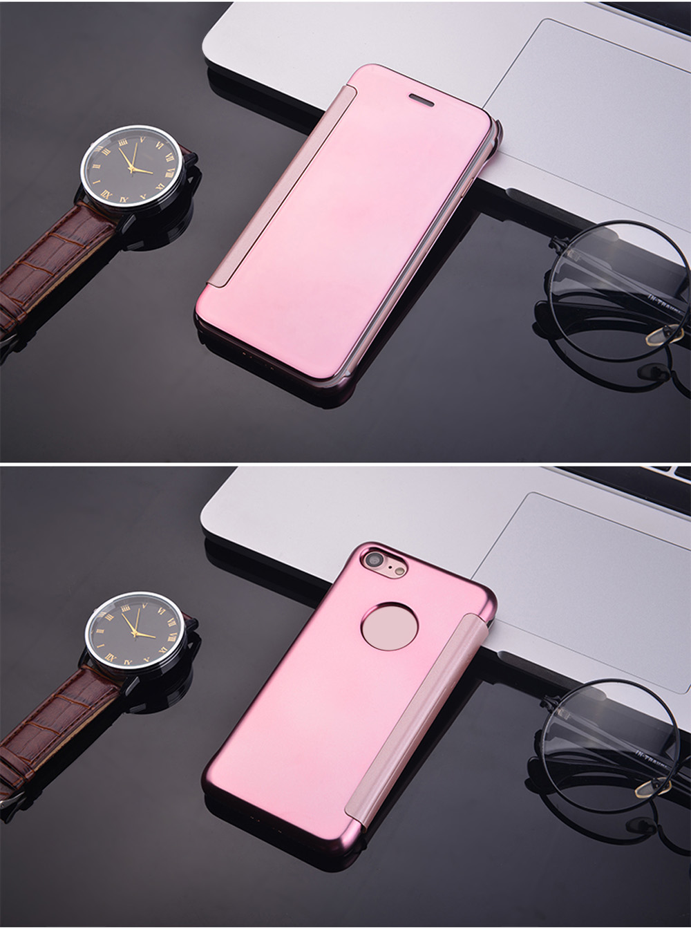 Mirror Luxury Hard PC Flip Cover Case for iPhone 7 4.7 inch