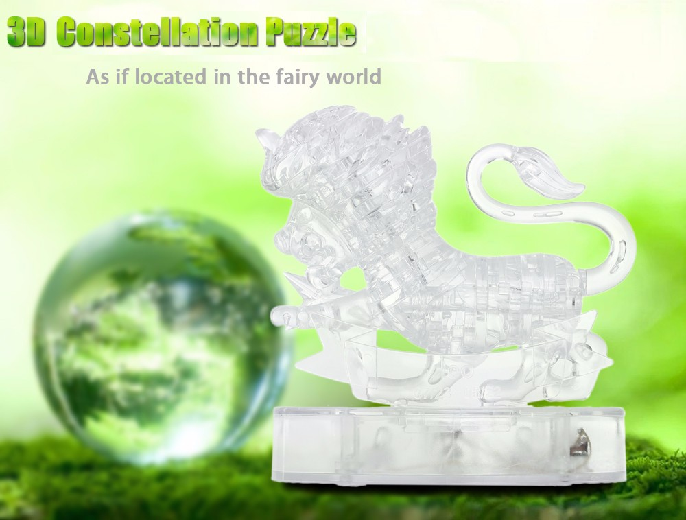 CP9052A 3D Constellation Puzzle Blocks Assembly Toy Birthday Christmas Present with Light