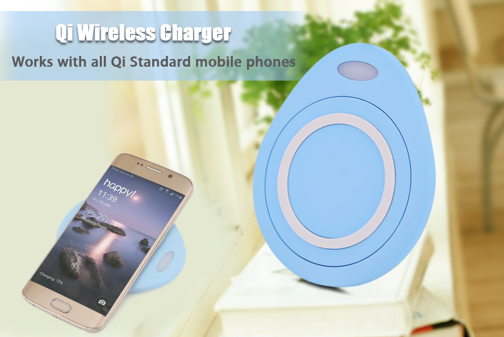 Water Droplets Shape Qi Wireless Charging Station