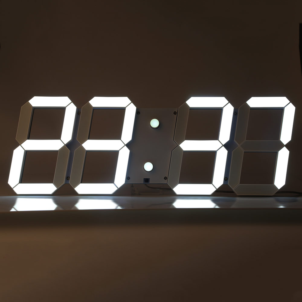 0off remote control big led digital wall clock