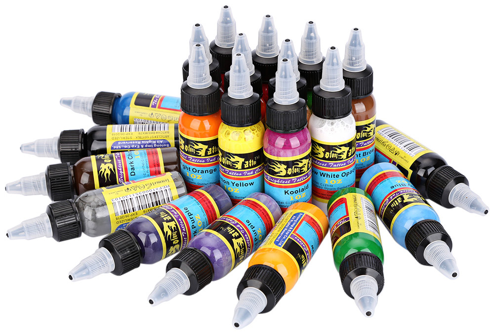 Solong 1 Set 21 Colors 30ml Bottle Complete Tattoo Ink Pigments