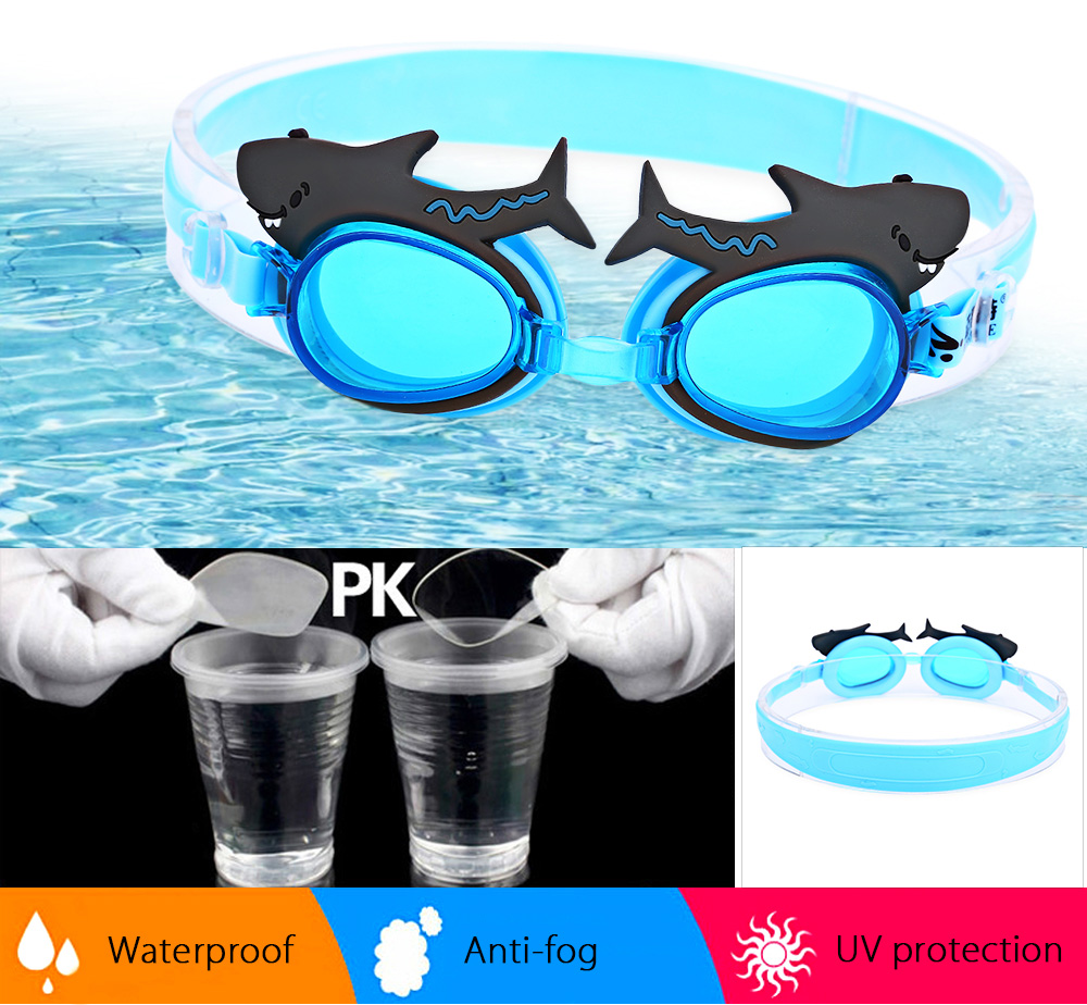 MYSTYLE Adjustable Children Waterproof Silicone Anti-fog UV Protection Swimming Glasses Goggles Eyewear