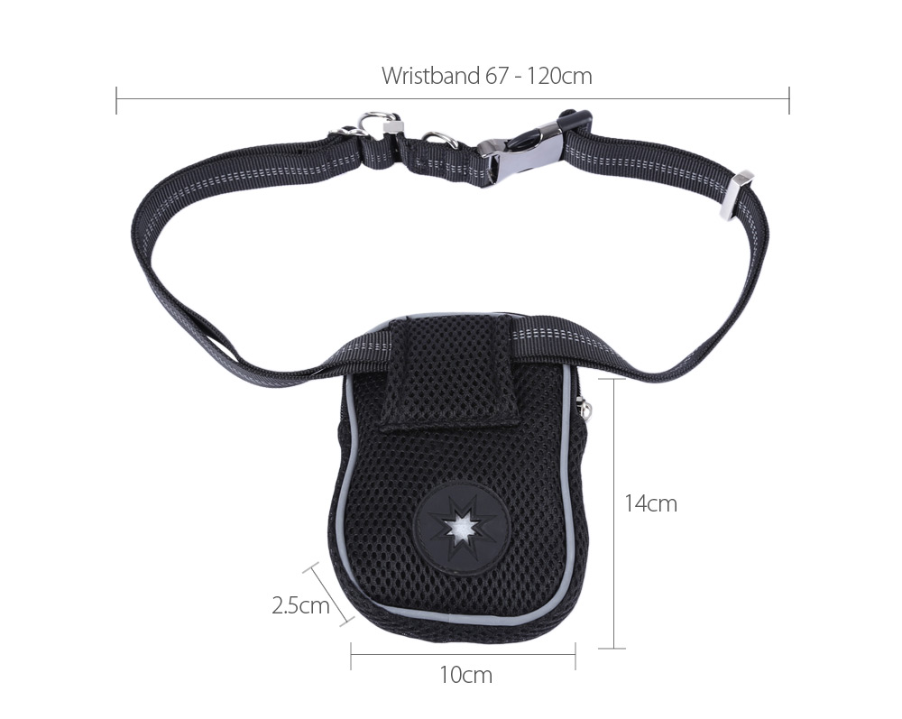 Pething Hands-free Waist Bag Outdoor with Pet Dog Lead leash