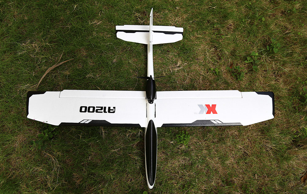 XK A1200A 2.4GHz 4CH 3D / 6G System 5.8G FPV Brushless Motor Fixed-wing Remote Control Airplane