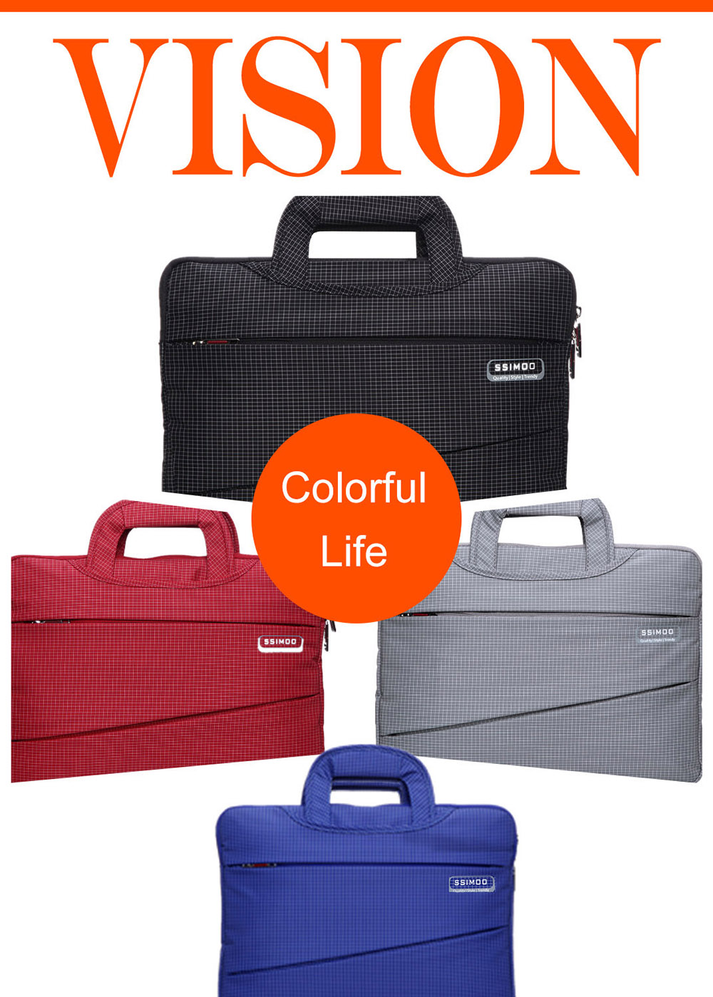 SSIMOO 2 in 1 Business Style Laptop Bag for MacBook 15 inch