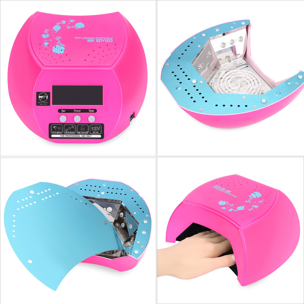 48W Manicure Tool LED / CCFL Phototherapy Infrared Automatic Induction Nail Gel Lamp