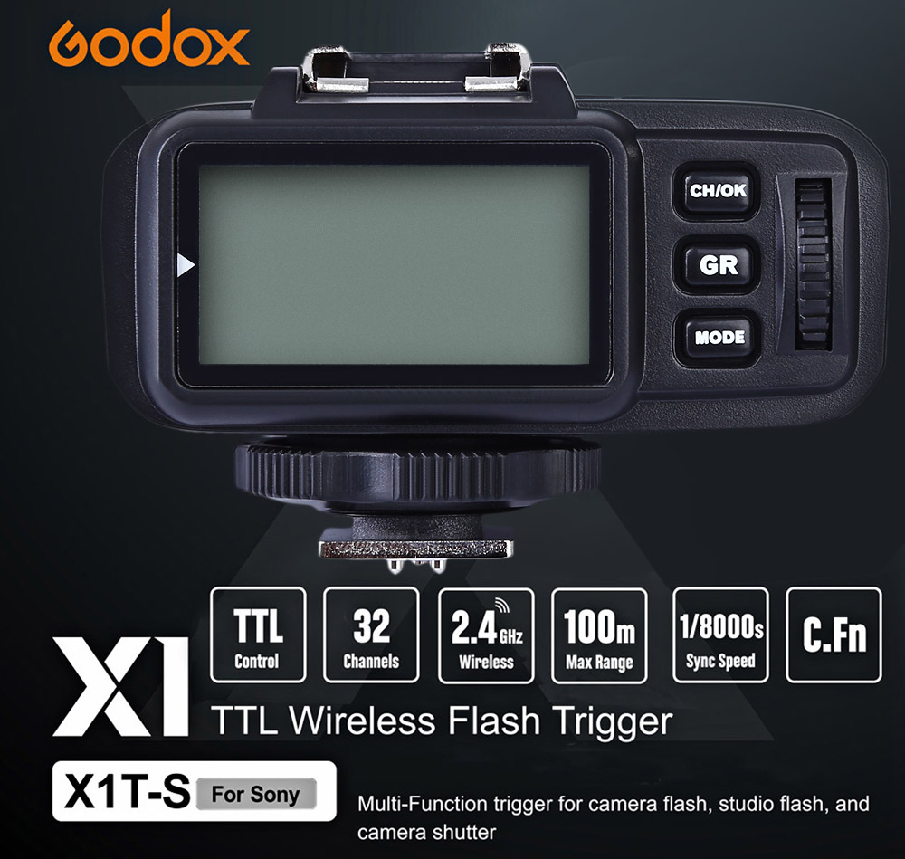 Godox X1T - S TTL 2.4GHz Wireless Transmission Multi-channel Triggering Flash Trigger for Sony Series Cameras