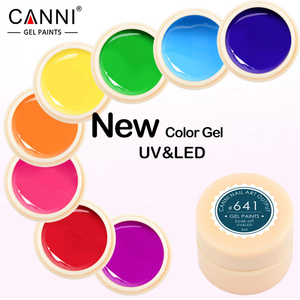 CANNI Professional Paint Supply LED UV Color Gel Soaks Liquid Nail Polish