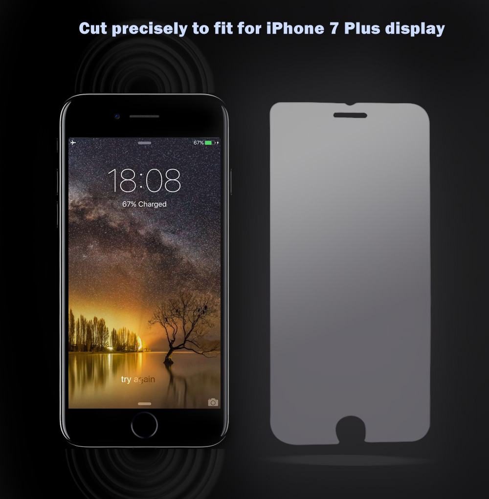 9H Ultra Thin Tempered Glass Anti-purple Light Protective Film for iPhone 7 Plus 5.5 inch