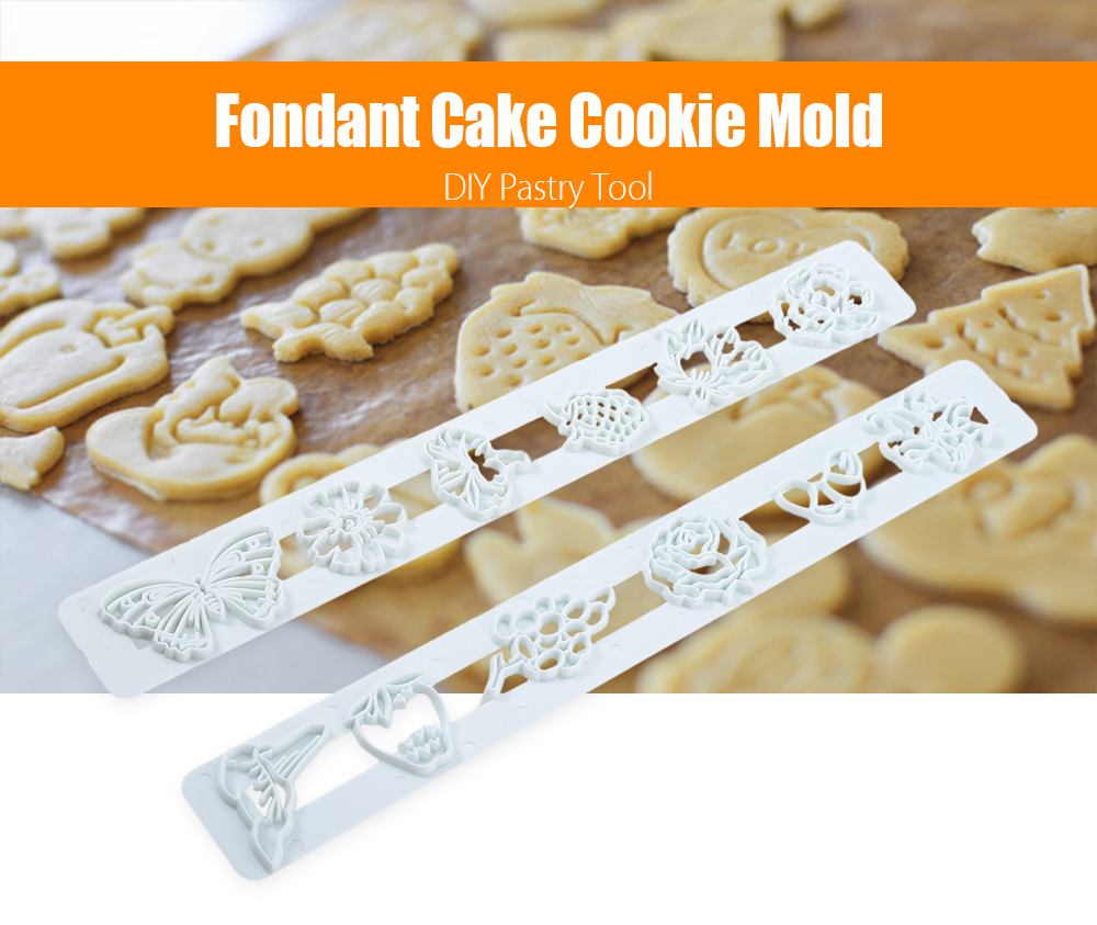 2pcs Fondant Cake Flower Bird Mold Decorating Cutter