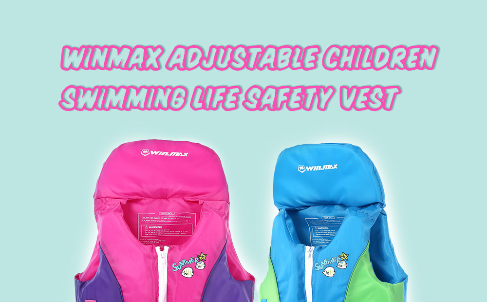 WINMAX Adjustable Children Swimming Life Safety Vest Swimsuit