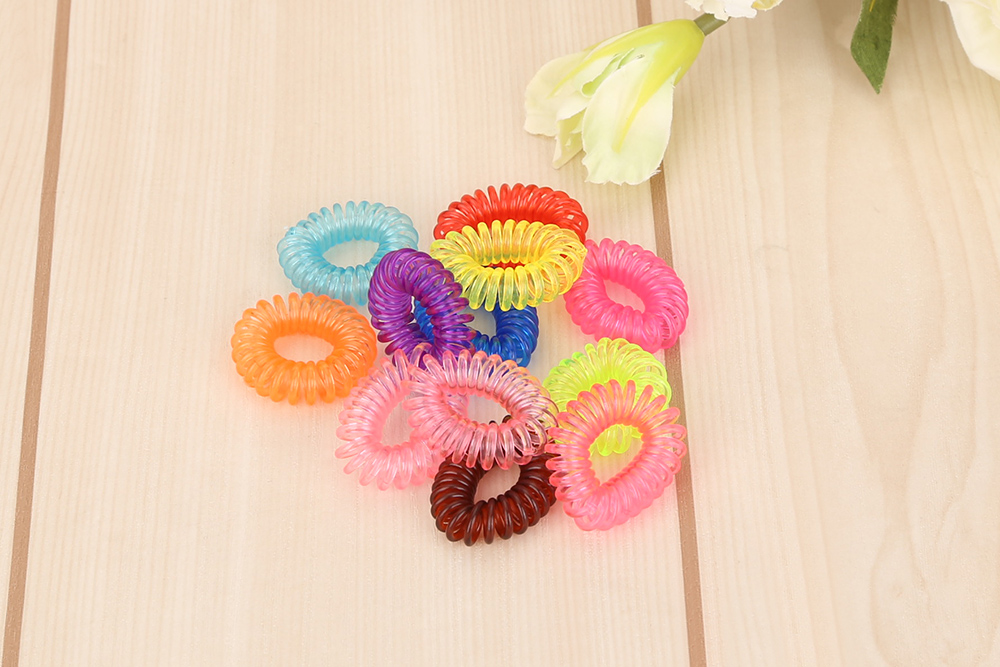 Beauty Scrunchie 12pcs Girl Elastic Rubber Hair Ties Band Rope Ponytail Holder