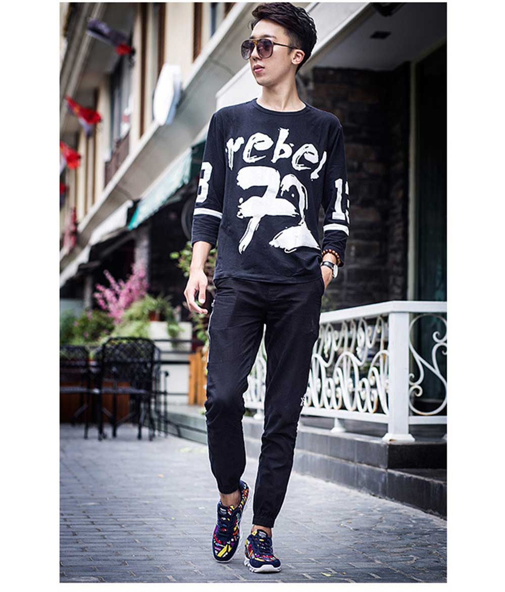 Fashionable Scrawl Design Lace Up Sneakers for Men