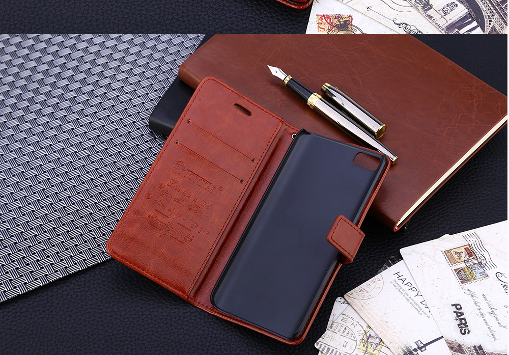 Tomkas Crazy Horse Series PU Leather Wallet Case with Card Slot for Xiaomi 5