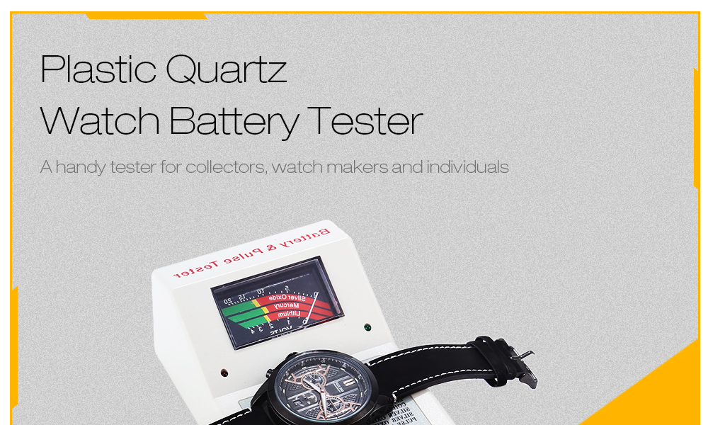 Plastic Watch Battery Tester Repair Tool Button Cell Checker
