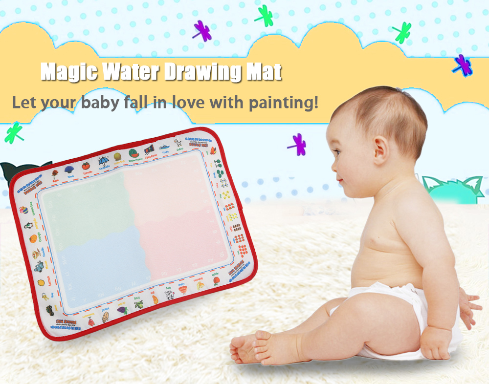 Kids Magic Water Drawing Writing Learning Mat Toy with Watercolor Pen