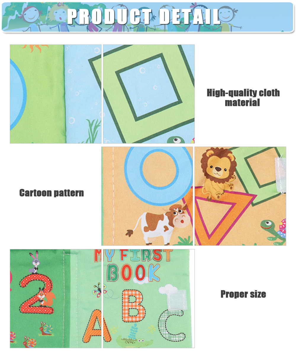 Baby English Learning Soft Cloth Book Early Development Toy