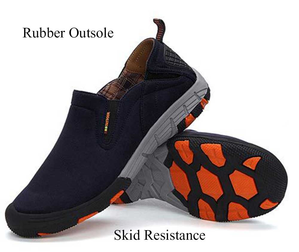 Casual Solid Color Suede Slip On Flat Shoes for Men