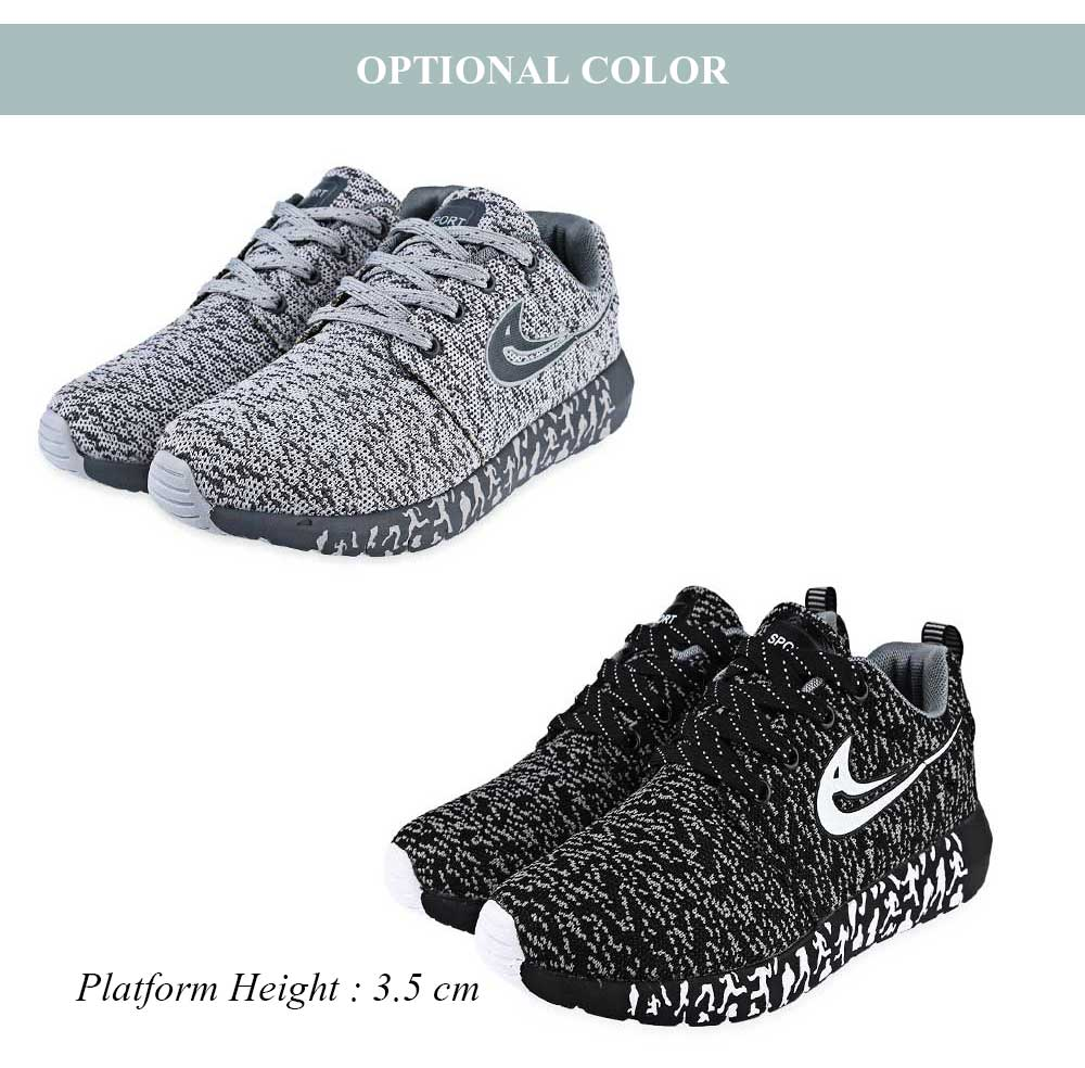 Fashionable Mesh Lace Up Running Shoes for Men