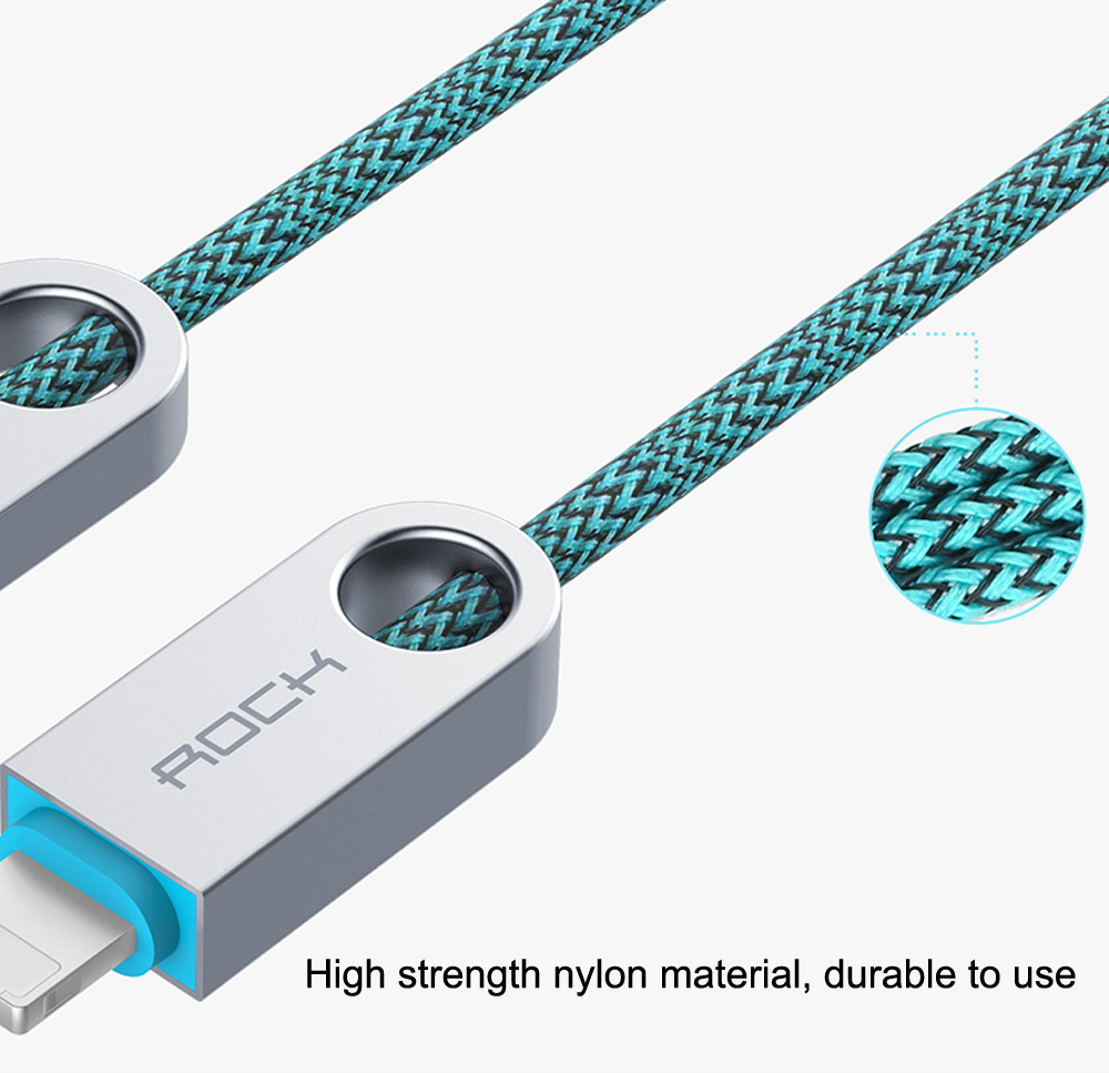 ROCK R1 2 in 1 Charging Cord Cable for iPhone / Android 0.3M