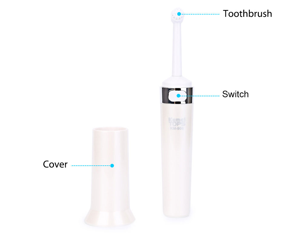 Kemei KM - 906 Universal Dry Battery Test Electric Toothbrush for Adult Children