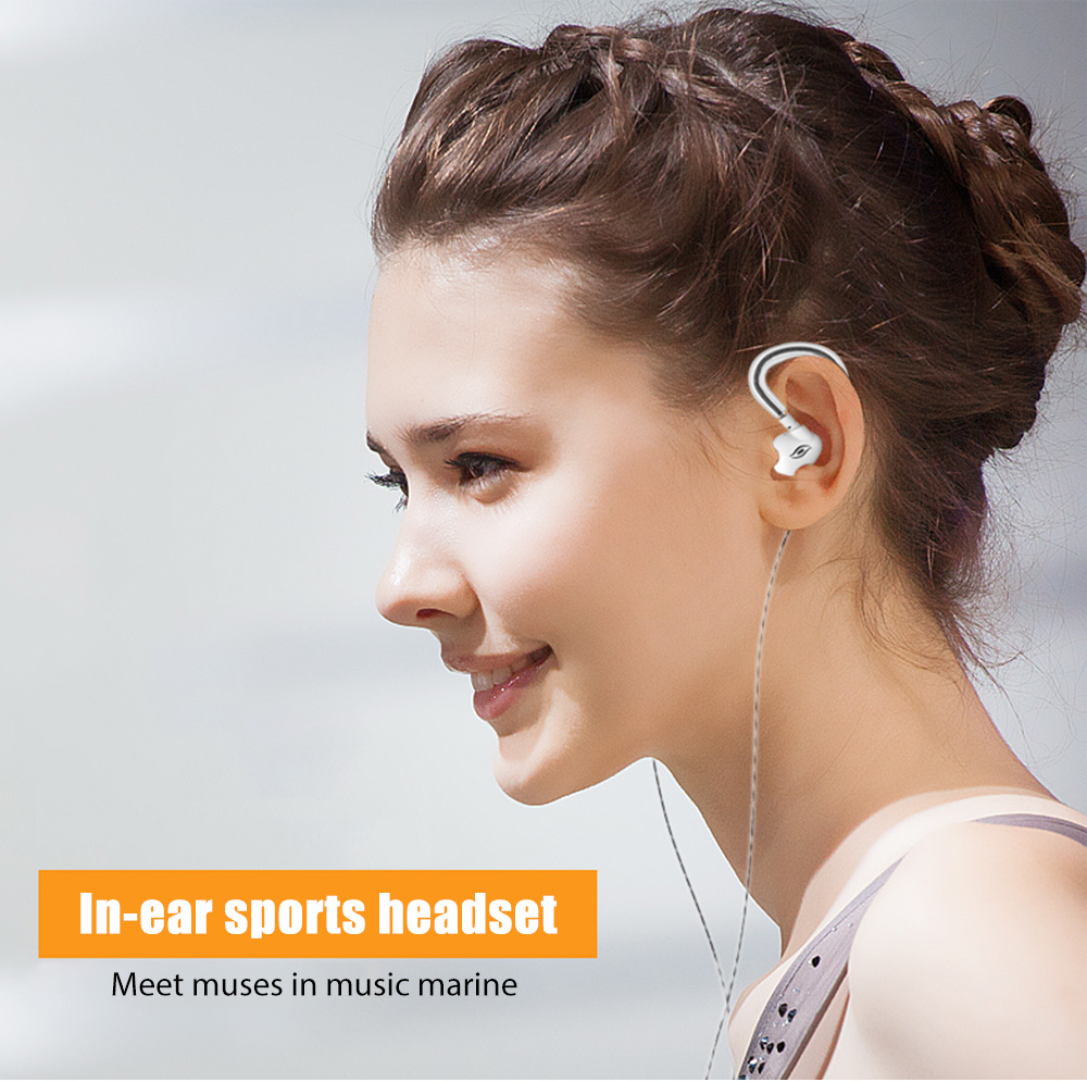 A9 In-ear Sports Headset Line Control Headphone Mega Bass Sweat Resistance Earphone